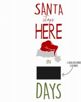 **Template Name:** Santa Stops HERE Marker Sign